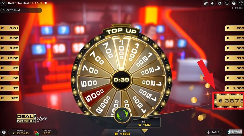 deal or no deal live top up