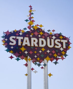 stardust hotel and casino sign
