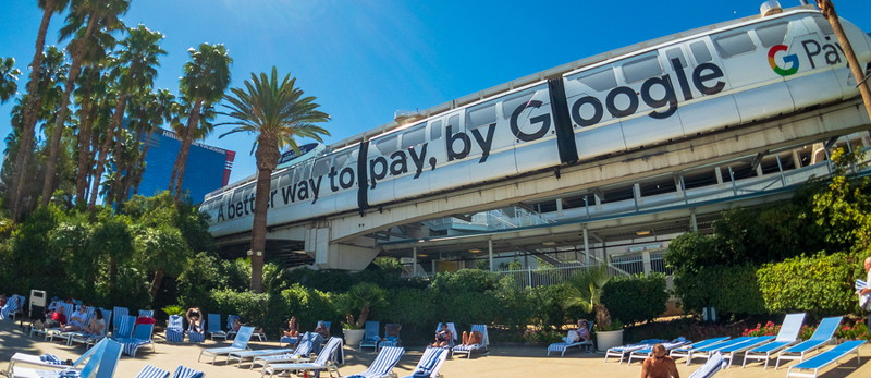 gpay banner on beach better way to pay