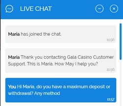 gala live chat support